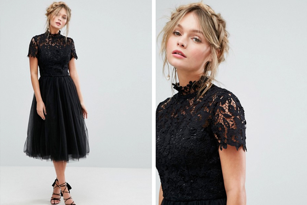 Vestido negro invitada de boda