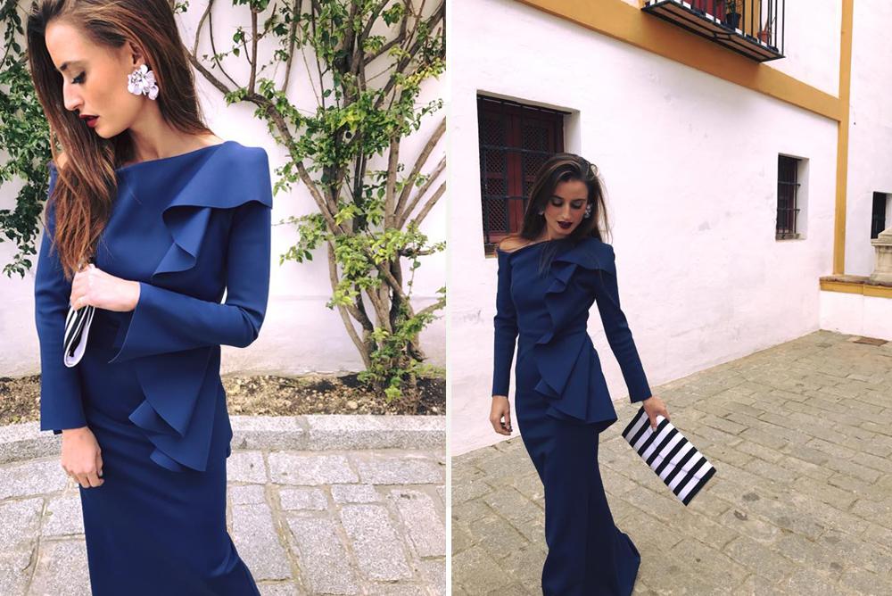 e4743f05c looks invitada de boda-verano 2017-vestido azul-fernando claro-wedding style  copia