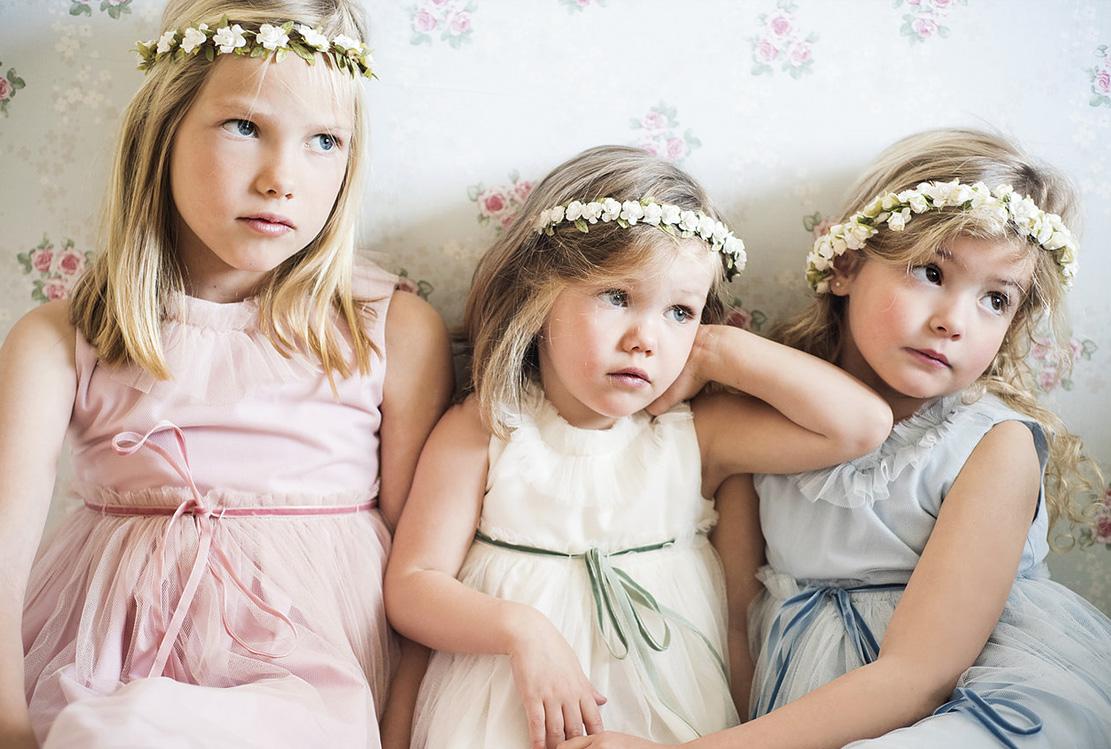 Vestidos de niños de arras de Teresa y Leticia