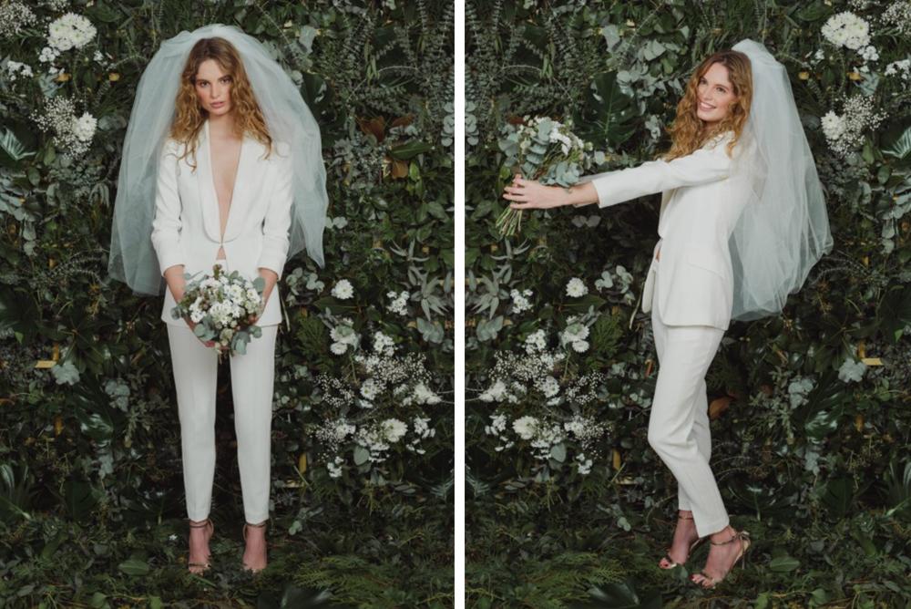 Alternativas al vestido de novia: esmoquin