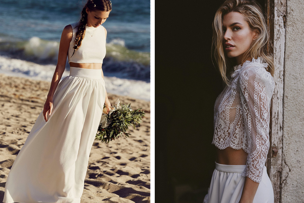 Alternativas al vestido de novia: falda