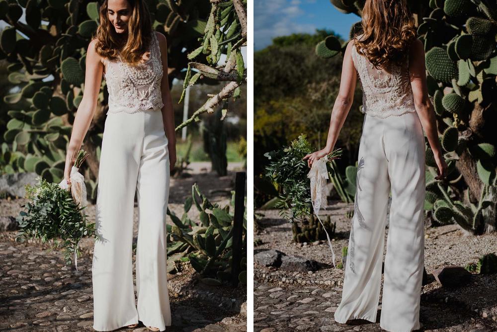 Alternativas al vestido de novia: pantalones