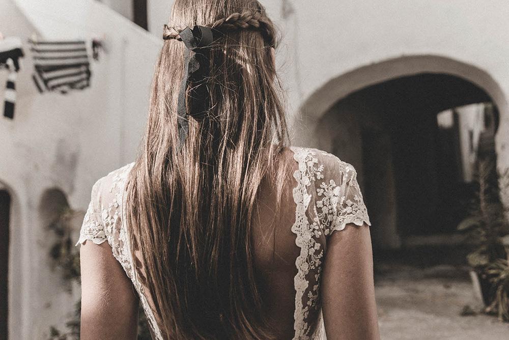 Claudia Llagostera vestido de novia con espalda abierta