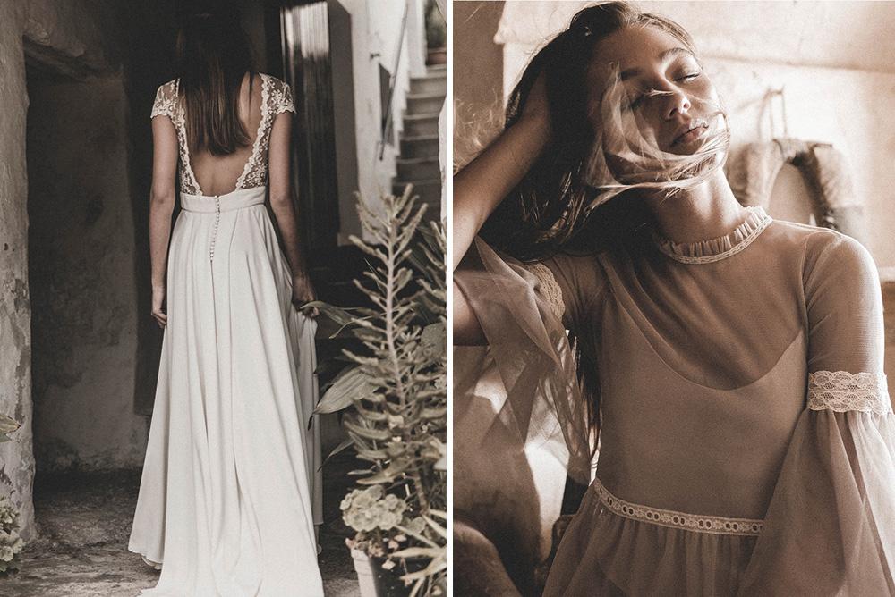 Claudia Llagostera vestido de novia con tul