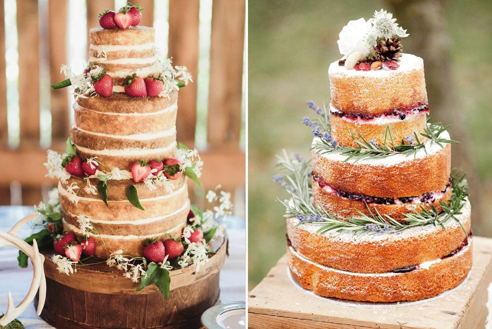 Postres para bodas: Naked cakes