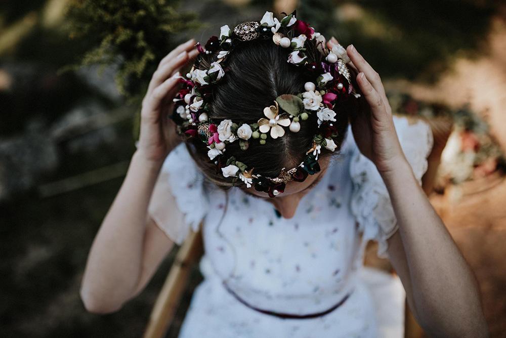 Corona de flores de La Unike