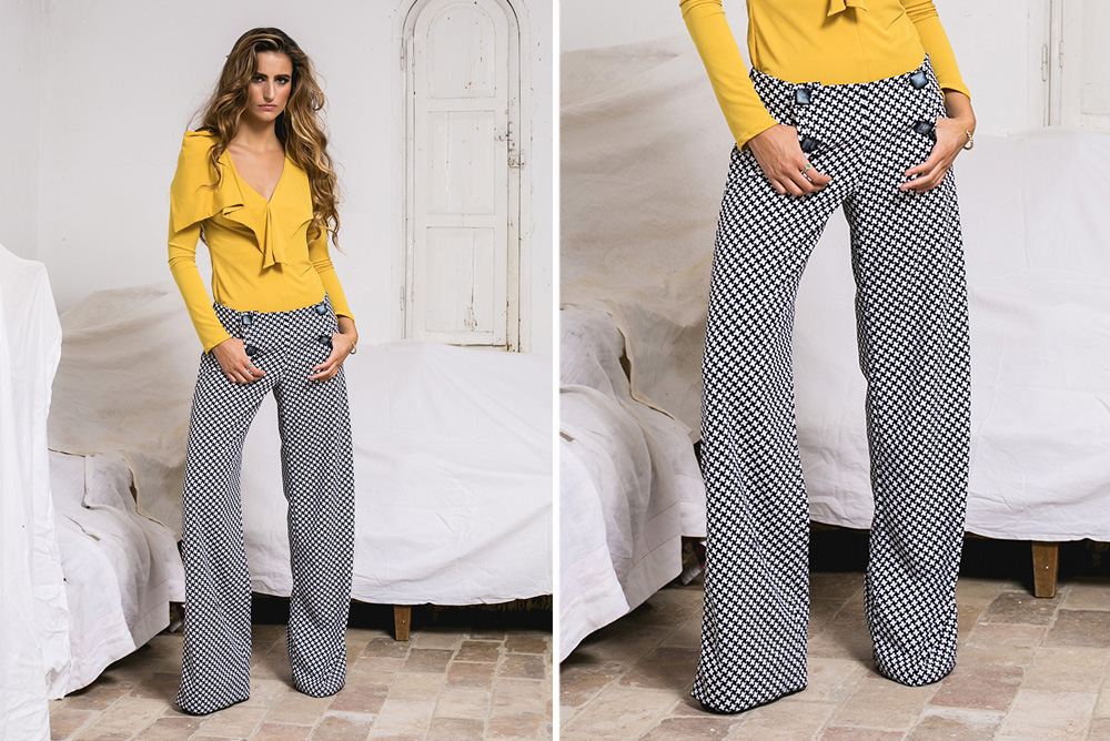 Pantalones estampado de cuadros