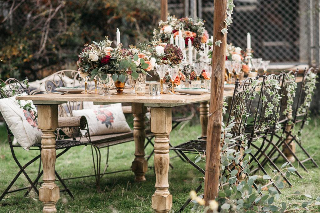 Decoración de la mesa de boda: Star carpas