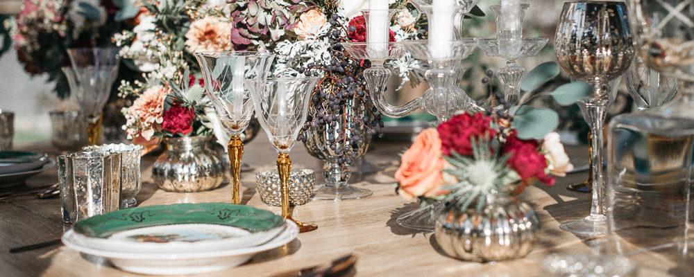 Decoración mesa de boda