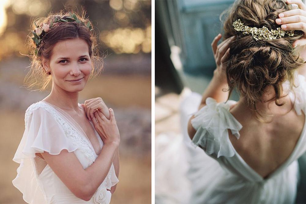 Peinados de novia deshechos