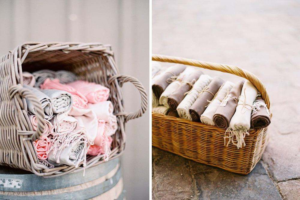 Regalos para invitados de boda: pashminas