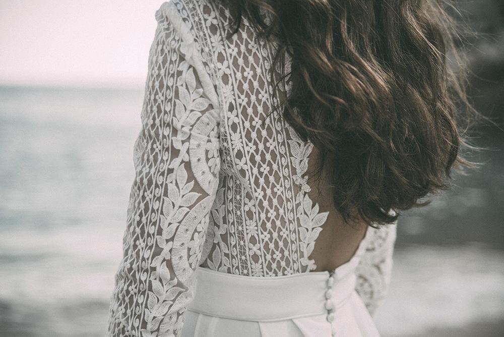 Claudia Llagostera vestido de novia con encajes