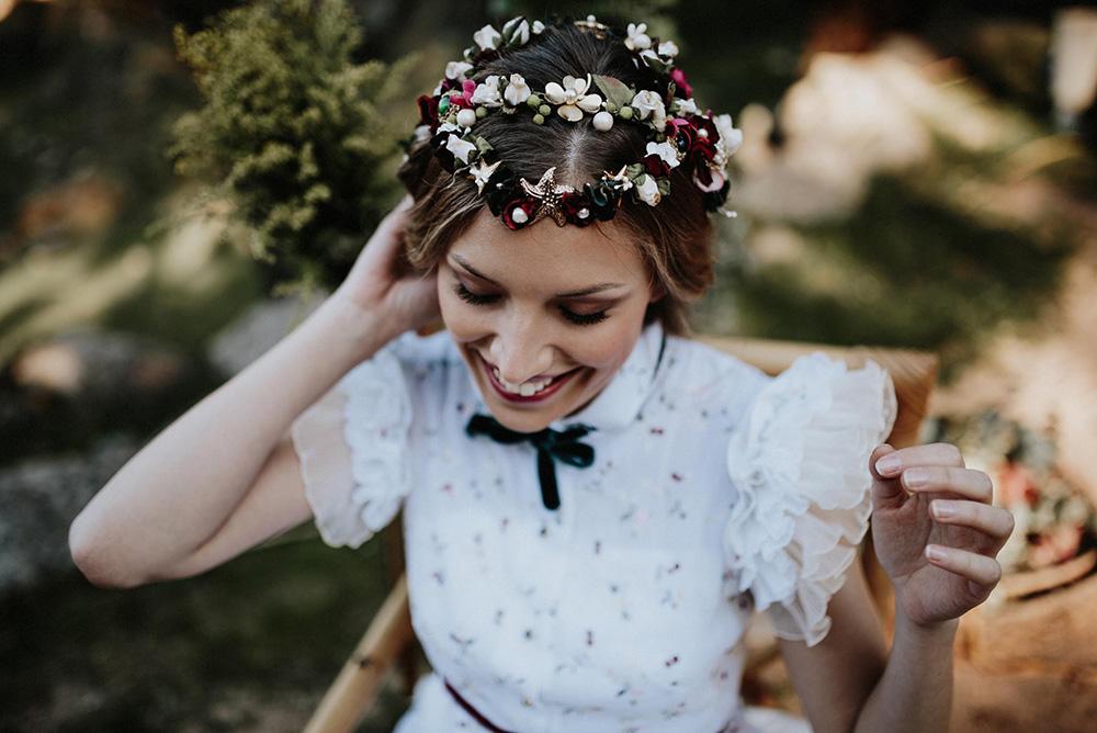 Detalles de vestido de novia de La Unike
