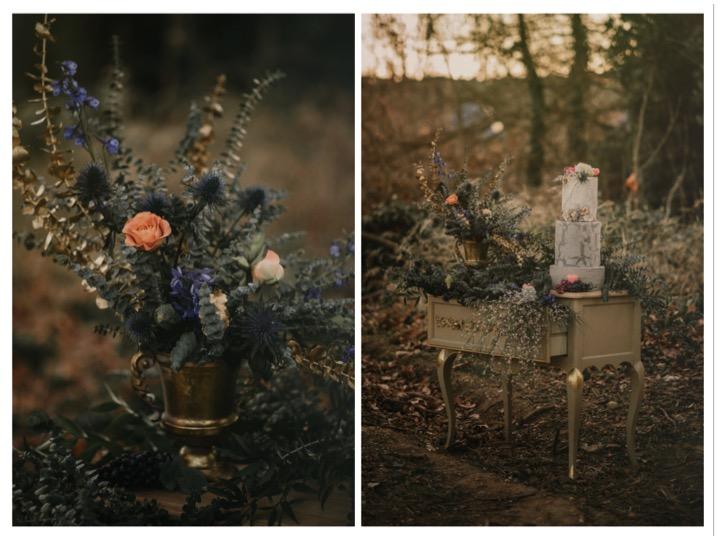detalles tartas y flores