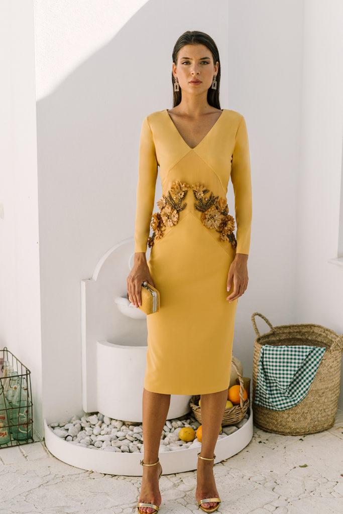 vestido amarillo invitada boda
