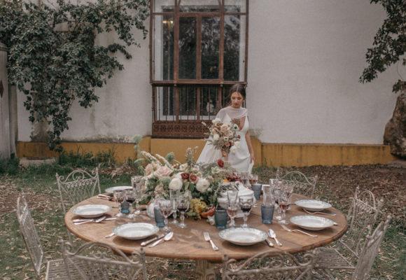 Mesa de bodas en Villa Julieta finca de bodas de Madrid